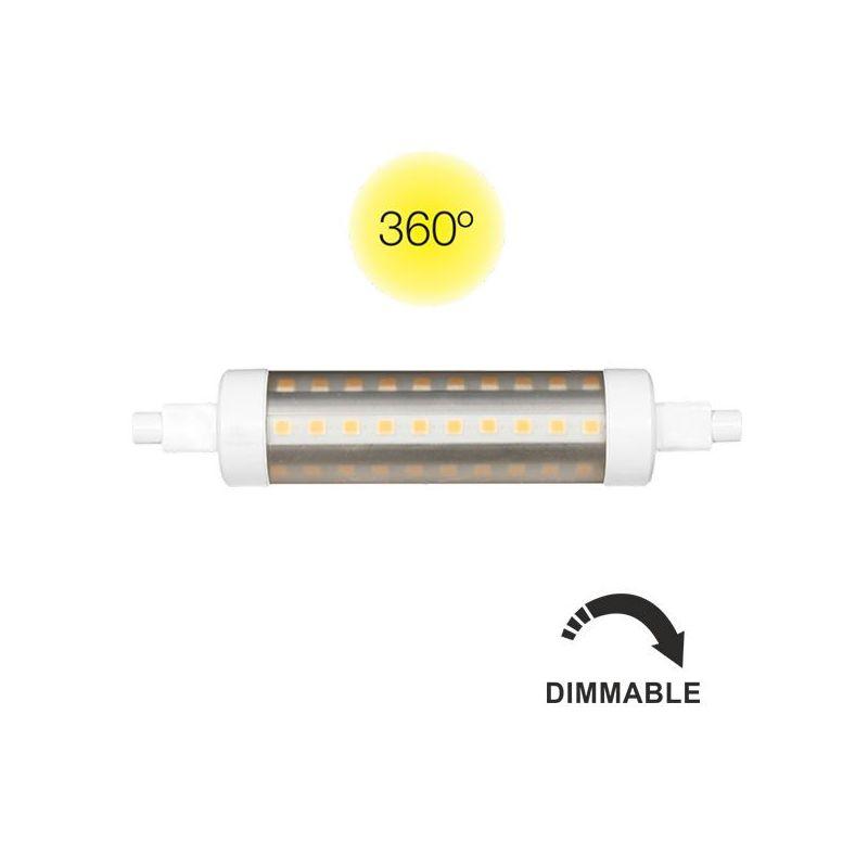 ampoule led r7s tubular 118 mm dimmable lux et d co. Black Bedroom Furniture Sets. Home Design Ideas