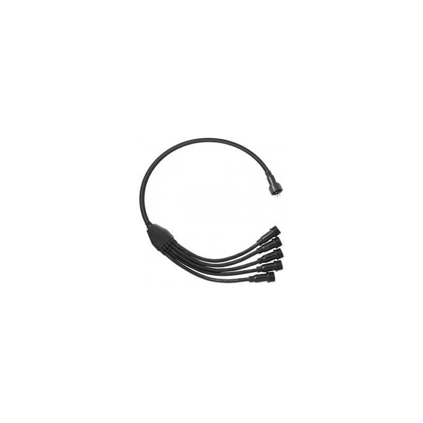 Connecteur 1 entrée 5 sorties IP67 RVB