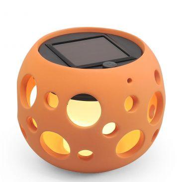 Lampe LED solaire Genova boule Terracotta Ceramic