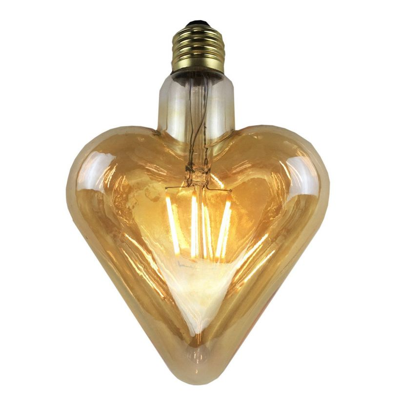 Ampoule E27 à filaments Coeur