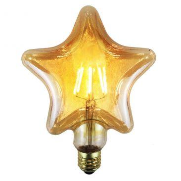 Ampoule LED E27 à filament Etoile