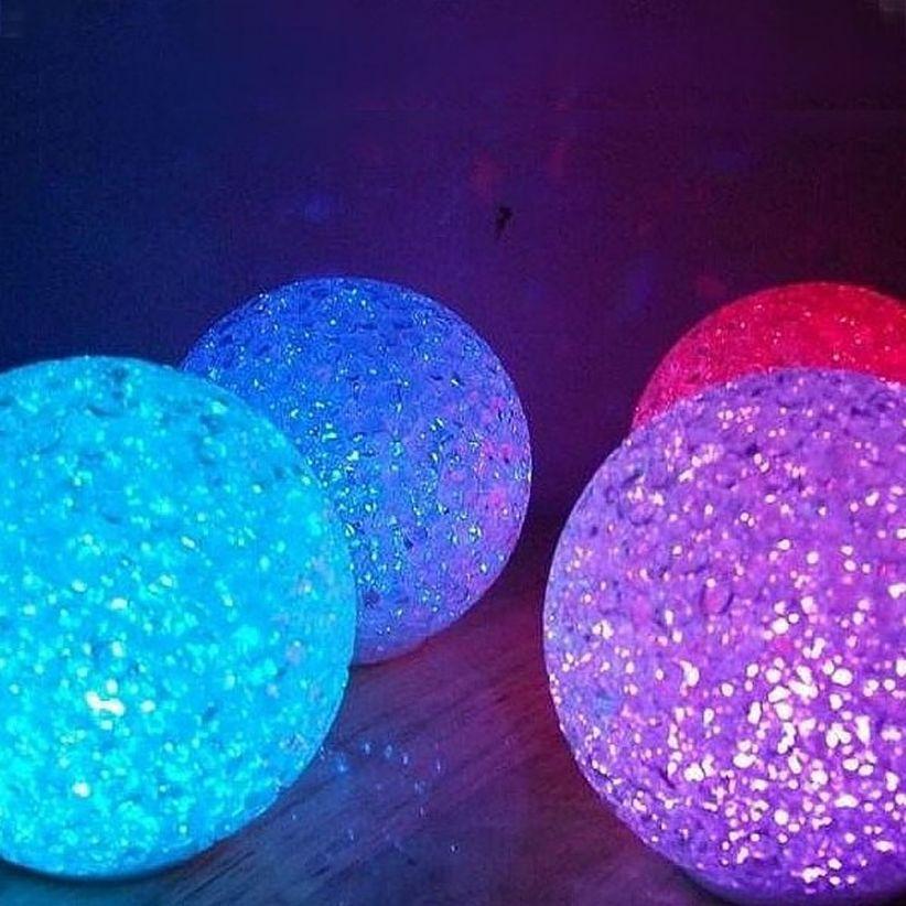 Boule lumineuse effet cristal