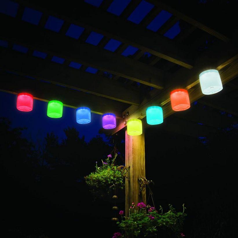 lampe led solaire gonflable couleur lux et d co. Black Bedroom Furniture Sets. Home Design Ideas