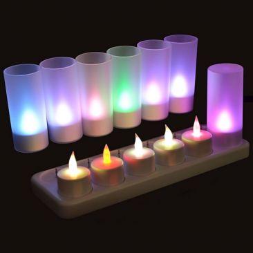 Bougies LED rechargeables changement de couleurs