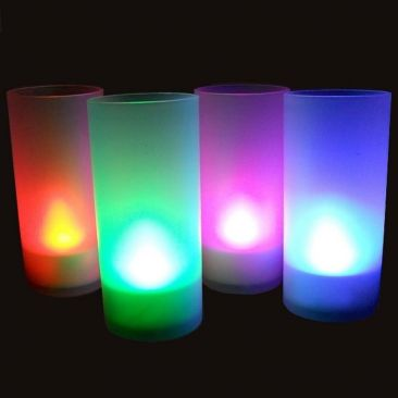 Bougie LED soufflez! avec son photophore