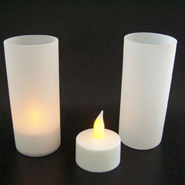 Bougie LED couleurs avec photophore