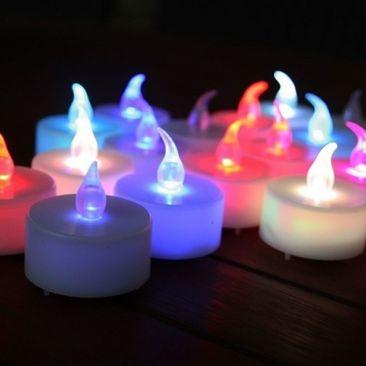 Bougie LED chauffe plat multicolore