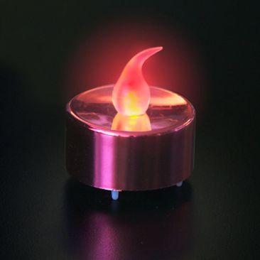 Bougie LED chauffe plat base rouge métallisé