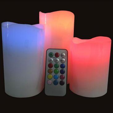 Bougies LED en cire avec télécommande