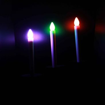 Bougie LED chandelle changement de couleurs automatique