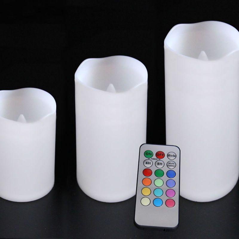 Led Multi Pack 3 Avec Bougies De Couleurs Télécommande Nn0wvO8m