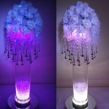 Base lumineuse silver LED RVB - ø 20 cm