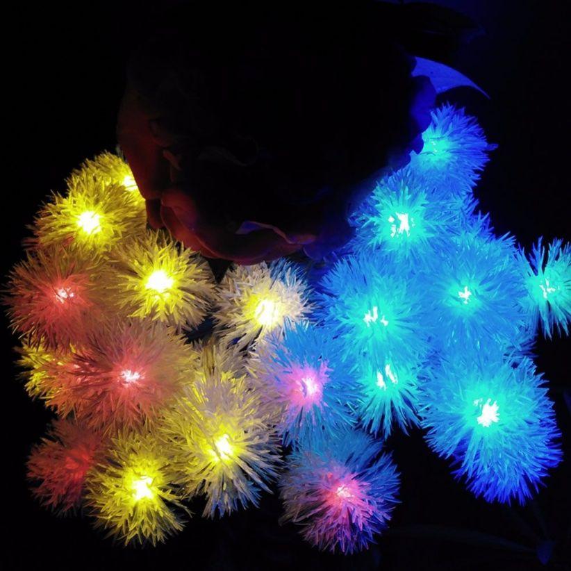 Guirlande LED flocons de neige