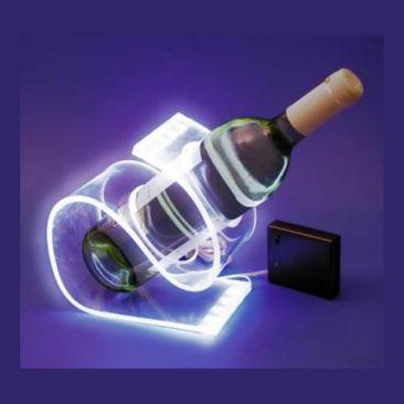 Support à bouteille lumineux