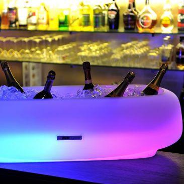 Seau a glace lumineux geant - 14 bouteilles