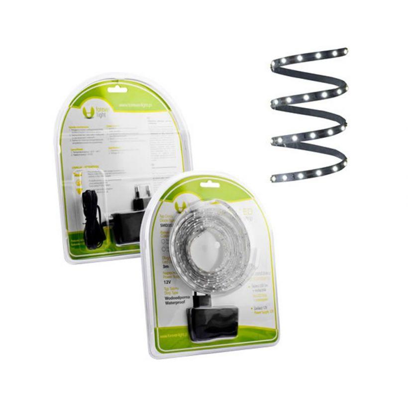 ruban led blanc froid pack 3 m sous blister lux et d co. Black Bedroom Furniture Sets. Home Design Ideas