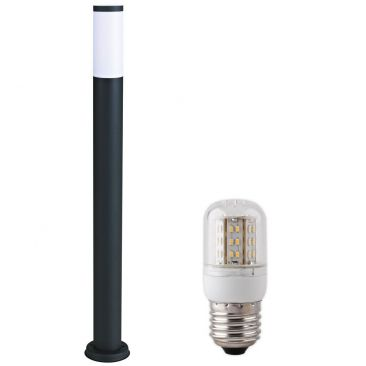 Potelet lumineux avec son ampoule LED