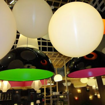 Sphère lumineuse Planet en suspension grand modèle