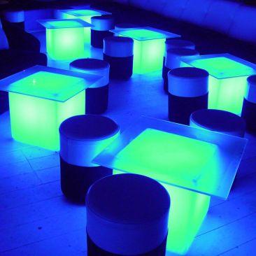 Cube lumineux LED Kubb