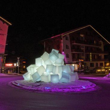 Cube lumineux avec fil Kubb