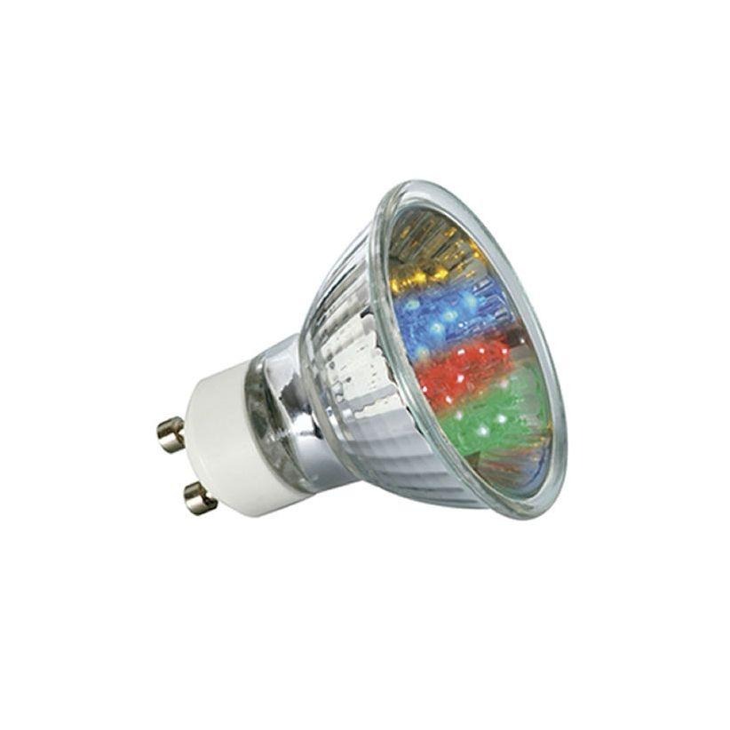 ampoule 20 led couleurs gu10 lux et d co ampoule led gu10. Black Bedroom Furniture Sets. Home Design Ideas