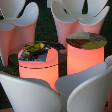 Pouf lumineux cylindre Assiz avec fil