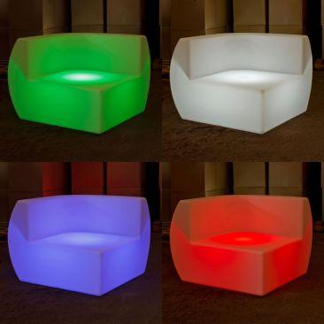 Canapé lumineux élément d'angle Kajoy