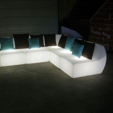 Canapé lumineux élément d'angle Kajoy avec fil
