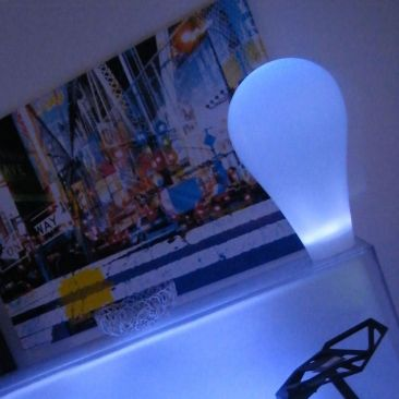 Lampe design sans fil Amp