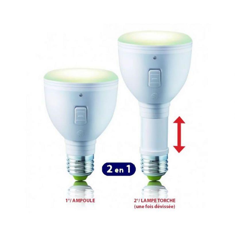 ampoule led e27 rechargeable lux et d co notre ampoule rechargeable. Black Bedroom Furniture Sets. Home Design Ideas