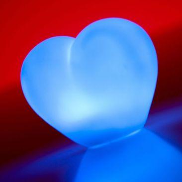 Cœur lumineux LED à piles