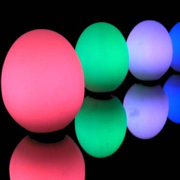 Oeuf lumineux LED à piles