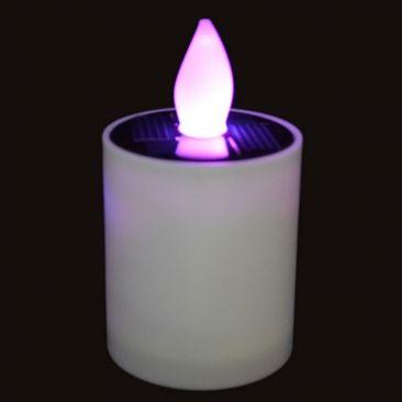 Bougie LED solaire RVB