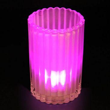 Photophore en verre pour bougie LED