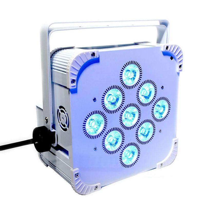 Projecteur LED rechargeable DMX couleurs et blanc