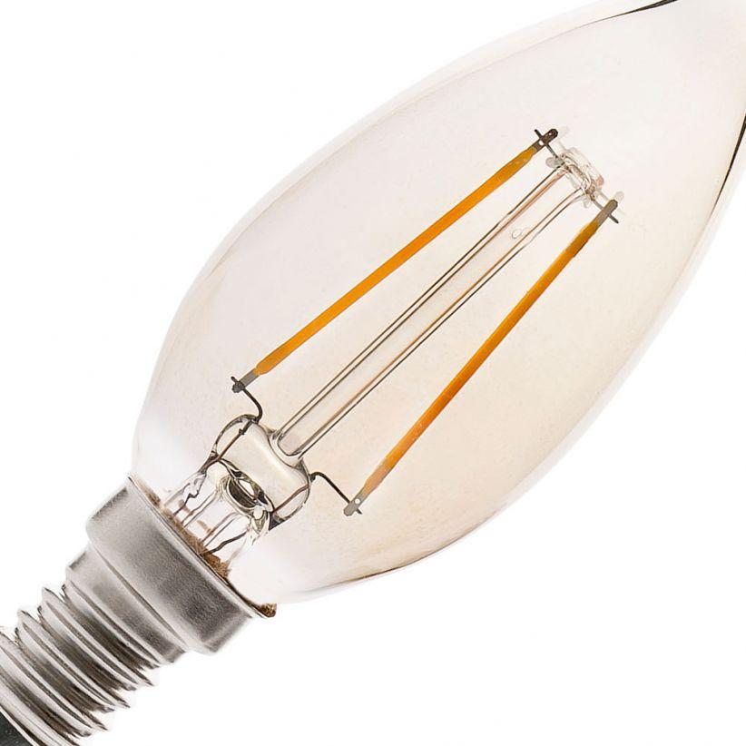 Ampoule LED E14 flamme ambrée