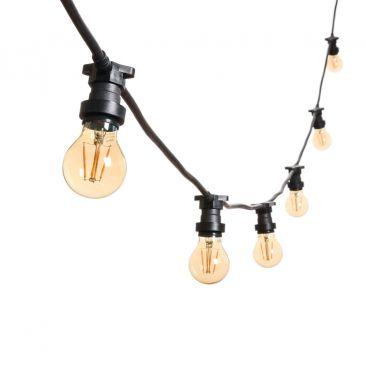 Guirlande guinguette 5 mètres 8 ampoules LED à filaments