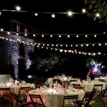 Guirlande guinguette 25 mètres 40 ampoules