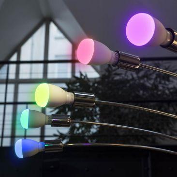 Ampoule LED E27 connectée couleur