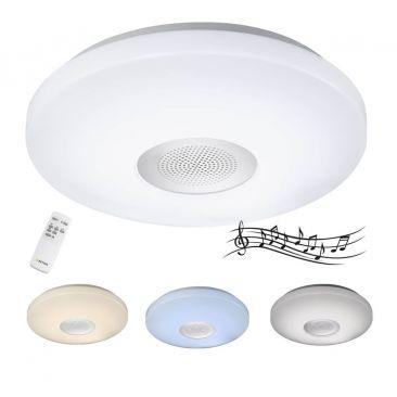 Plafonnier pour salle de bains avec haut-parleur