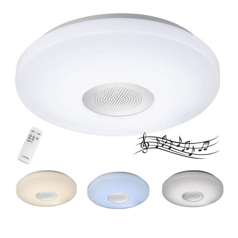 Plafonnier LED avec haut parleur Bluetooth