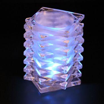 Photophore en verre pour bougies LED chauffe plat