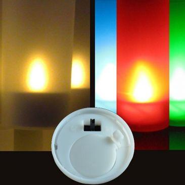 Bougie LED avec photophore