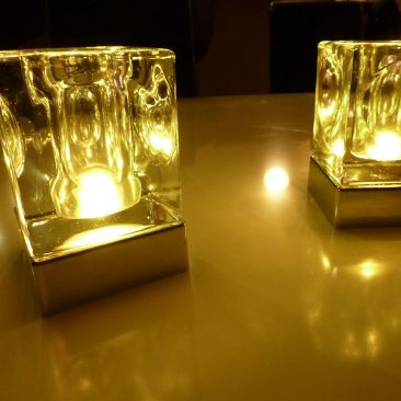 Centre de table lumineux rechargeable Crystal