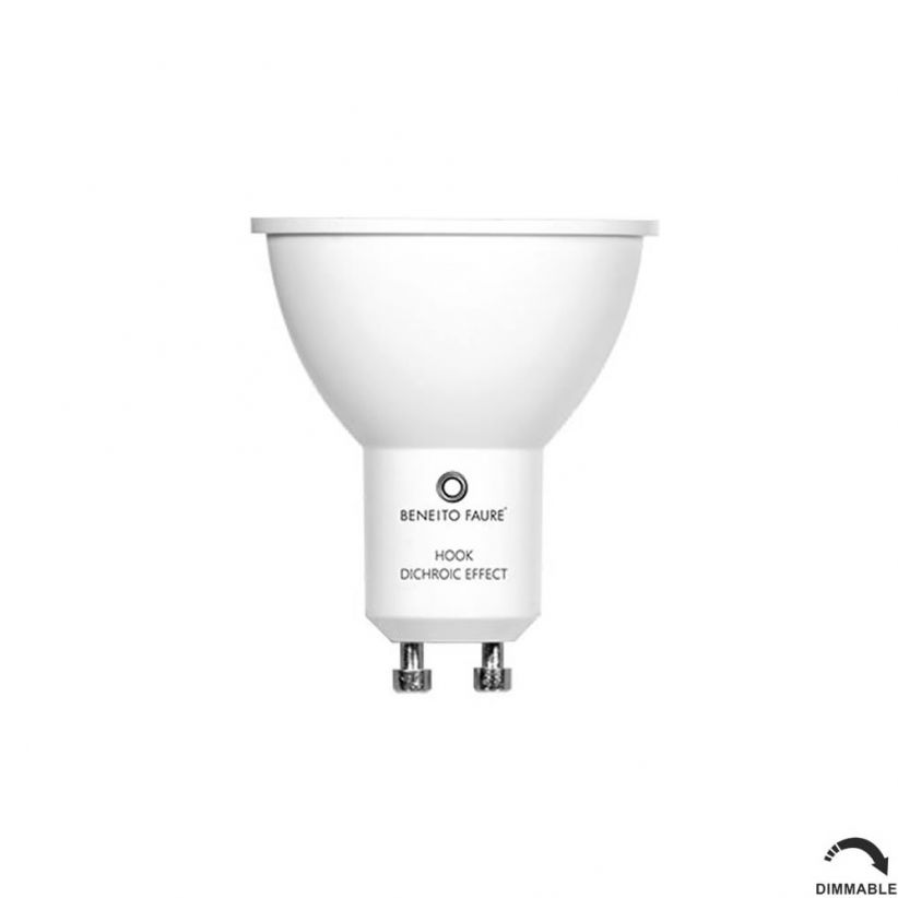 Ampoule LED GU10 Hook dimmable effet dichroïque