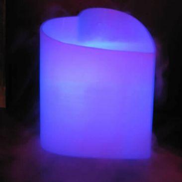 Fontaine d'arôme lumineuse en forme de cœur