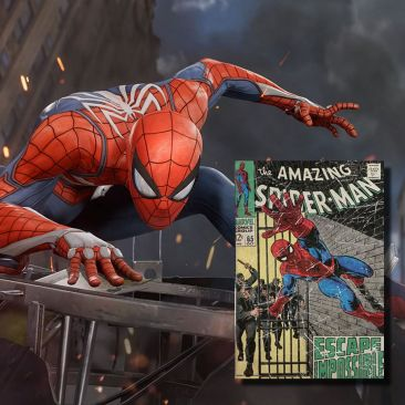Livre LED sans fil Spiderman