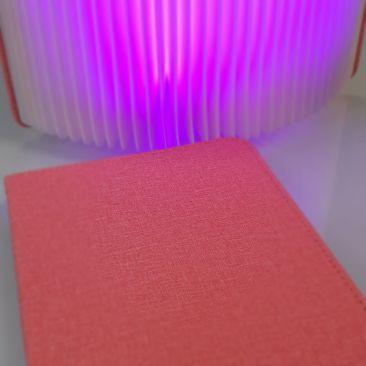 Livre lumineux couverture rose
