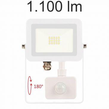 Projecteur LED 10 Watts Sky blanc avec détecteur