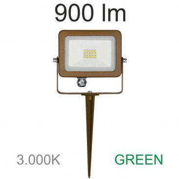 Projecteur LED 10 Watts Sky Corten avec piquet